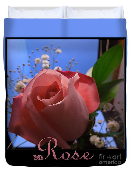 Rose Is A Rose Duvet Cover by Renee Trenholm