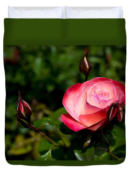 Duvet Cover featuring the photograph Rose by Lora Lee Chapman