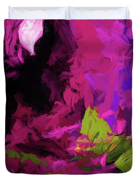 Rose Magenta Duvet Cover
