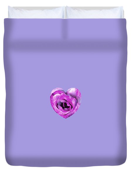 Rose Nepenthe Heart Duvet Cover