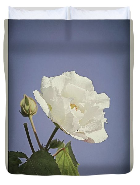 Duvet Cover featuring the photograph Rose Of Sharon by Elaine Teague