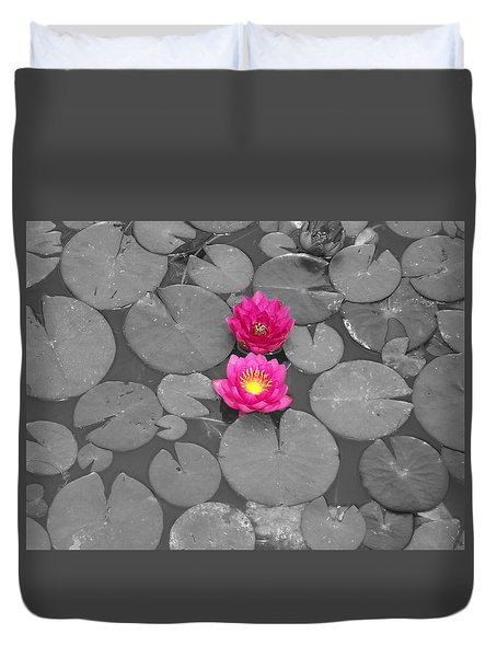 Rose Of The Water Duvet Cover