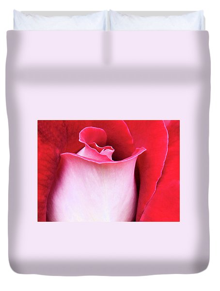 Duvet Cover featuring the photograph Rose Petals by Kristin Elmquist