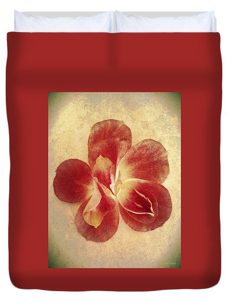Duvet Cover featuring the photograph Rose Petals by Linda Sannuti
