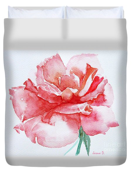 Rose Pink Duvet Cover by Jasna Dragun