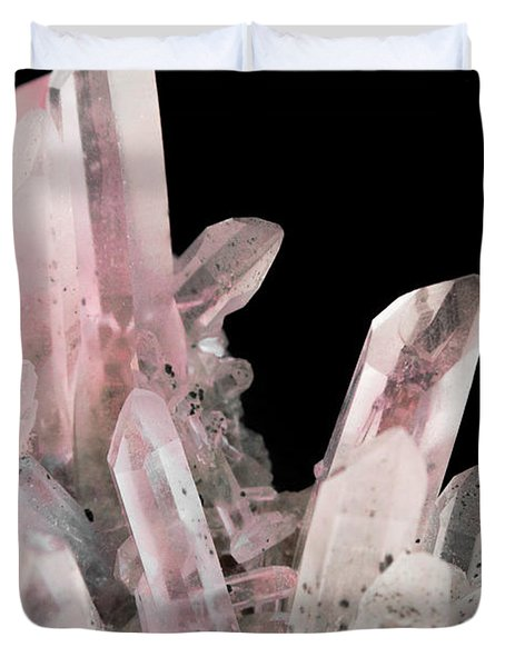 Rose Quartz Crystals Duvet Cover