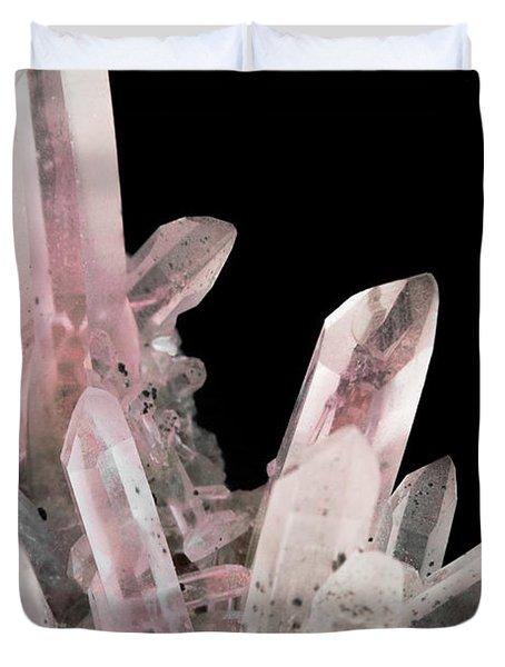 Rose Quartz Crystals Duvet Cover