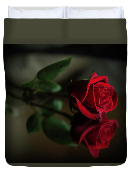 Rose Reflected Duvet Cover
