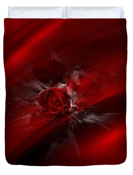 Rose Silk Duvet Cover