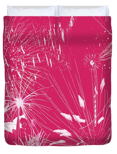 Duvet Cover featuring the digital art Rose Splash by Methune Hively
