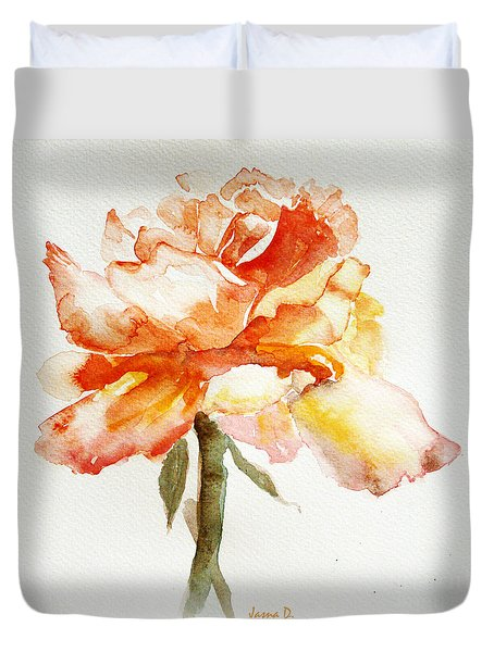Rose Yellow Duvet Cover by Jasna Dragun