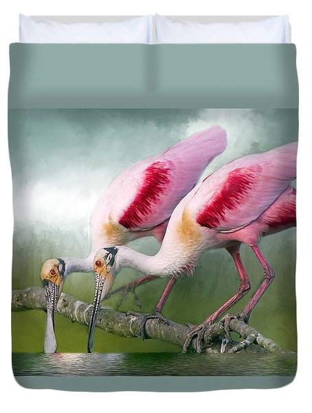 Roseate Romance Duvet Cover by Bonnie Barry
