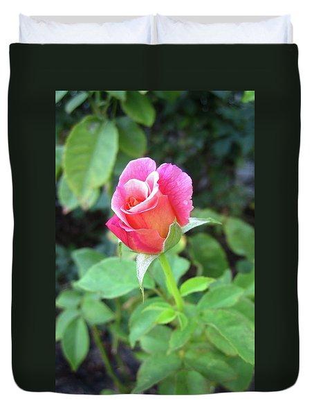 Rosebud Duvet Cover by Mary Ellen Frazee