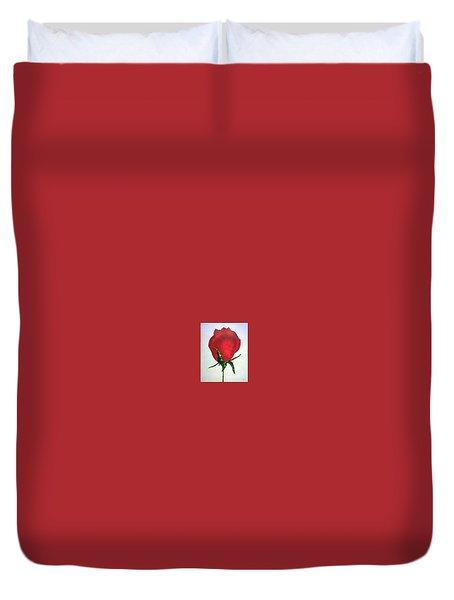 Rosebud Of Beaverlac Duvet Cover by Lynda Cookson
