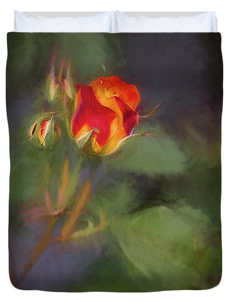 Rosebuds Duvet Cover by Billie-Jo Miller