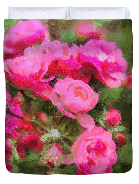 Rosebush Duvet Cover