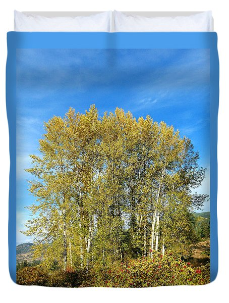 Rosehips And Cottonwoods Duvet Cover by Will Borden