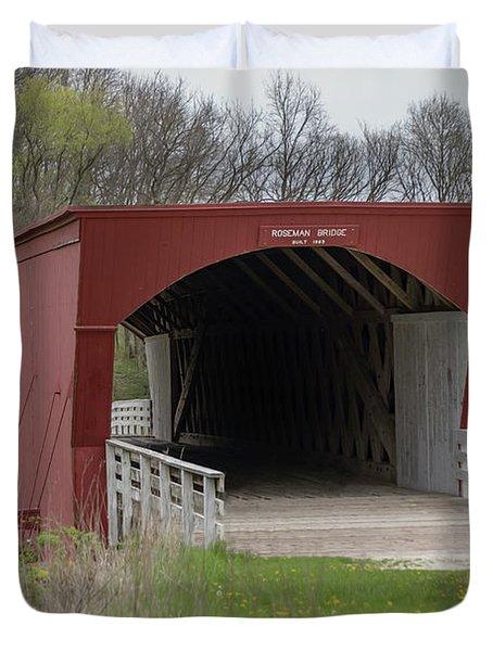 Roseman Covered Bridge - Madison County - Iowa Duvet Cover