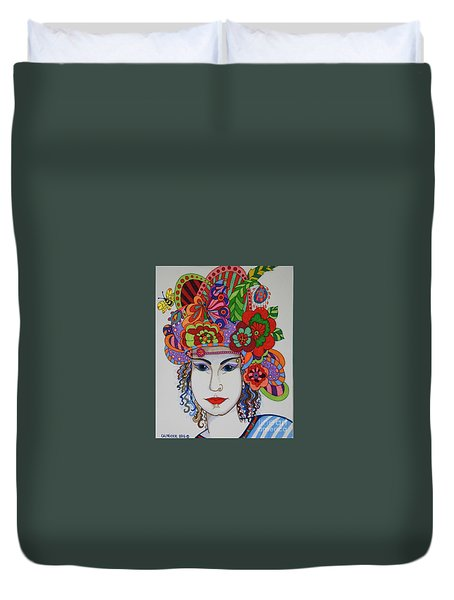 Rosemary Duvet Cover by Alison Caltrider