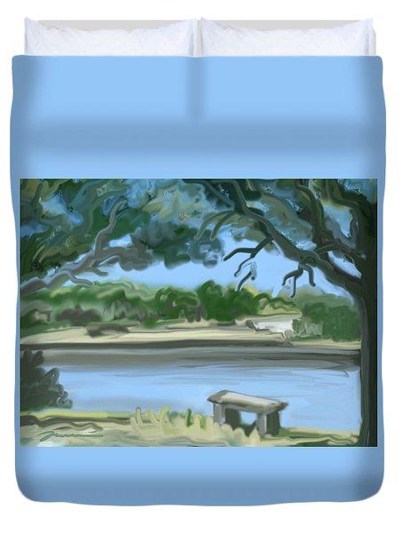 Rosemary Lake Duvet Cover by Jean Pacheco Ravinski
