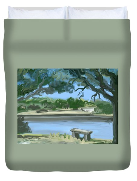 Rosemary Lake Duvet Cover