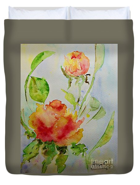 Roses  Duvet Cover by AmaS Art