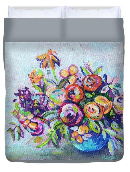 Roses And Kumquats Duvet Cover by Kristin Whitney