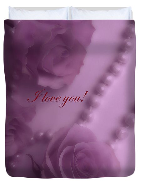 Roses And Pearls 6 Duvet Cover