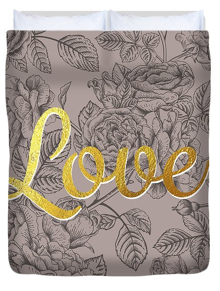 Roses For Love Duvet Cover by BONB Creative