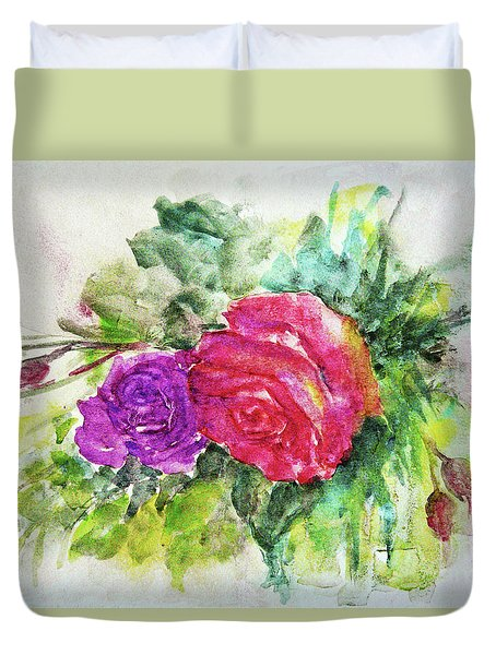 Roses For You Duvet Cover by Jasna Dragun