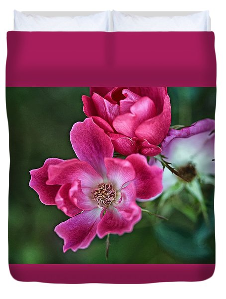 Duvet Cover featuring the photograph Roses For You by Susan D Moody
