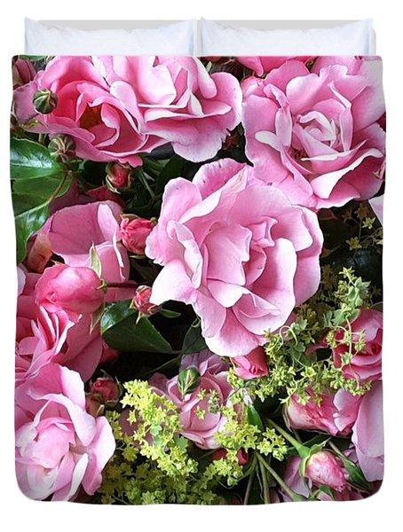 Roses From The Garden Duvet Cover