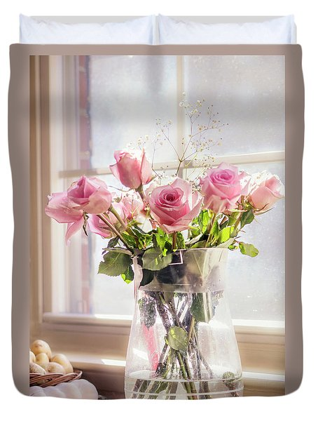 Roses In The Kitchen Duvet Cover