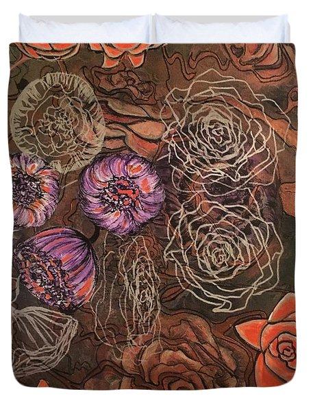 Roses In Time Duvet Cover