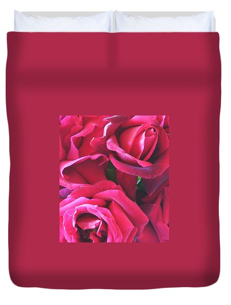 Roses Like Velvet Duvet Cover by Dana Patterson