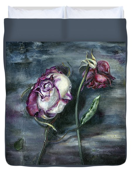 Roses Never Die Duvet Cover