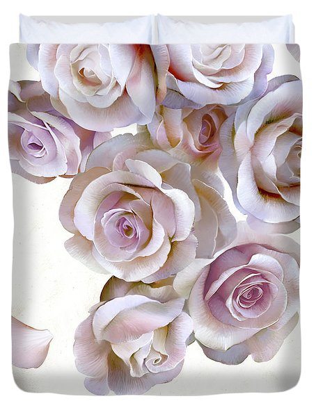 Roses Of Light Duvet Cover