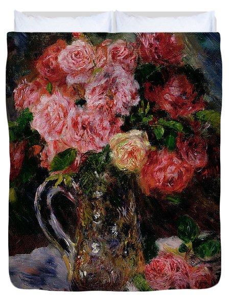 Roses Duvet Cover by Pierre Auguste Renoir