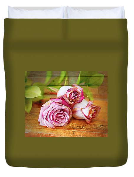 Roses Three Duvet Cover
