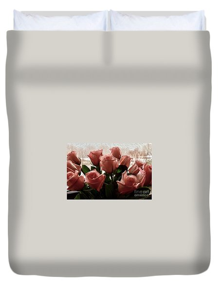 Roses With Love Duvet Cover