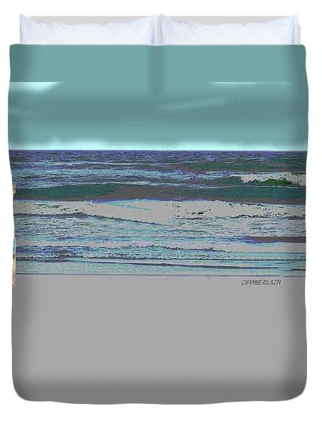Rosie On The Beach Duvet Cover