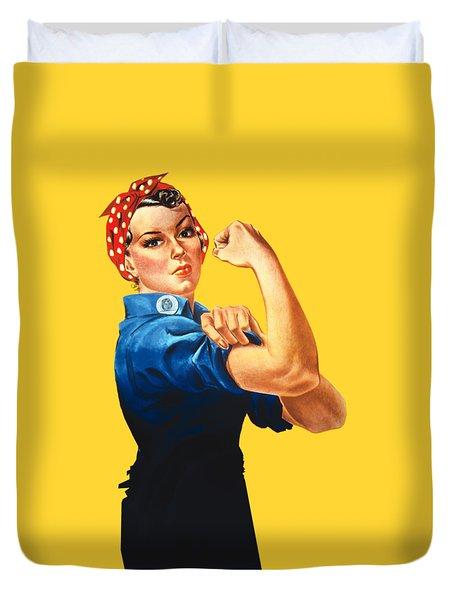 Rosie The Riveter Retro Style Duvet Cover