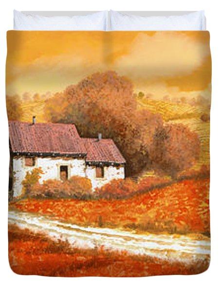 Rosso Papavero Duvet Cover