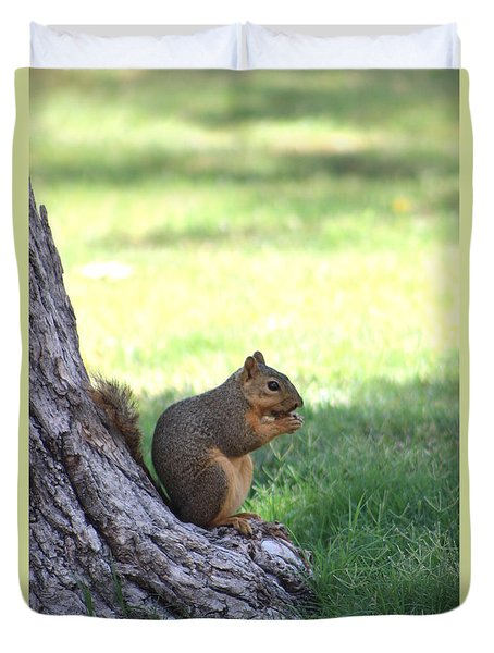 Roswell Squirrel Duvet Cover by Colleen Cornelius