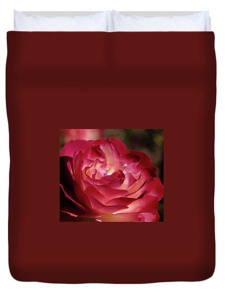 Rosy Closeup Duvet Cover