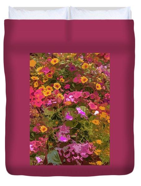 Rosy Garden Duvet Cover