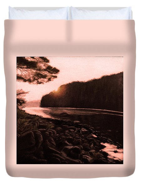 Rosy Glow Of Morning Duvet Cover