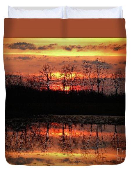 Rosy Mist Sunrise Duvet Cover