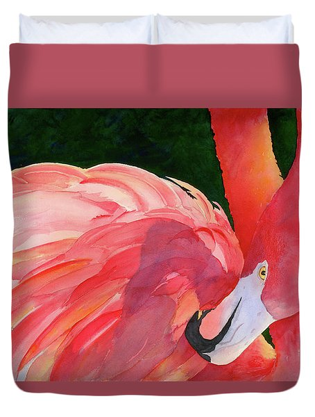 Rosy Outlook Duvet Cover