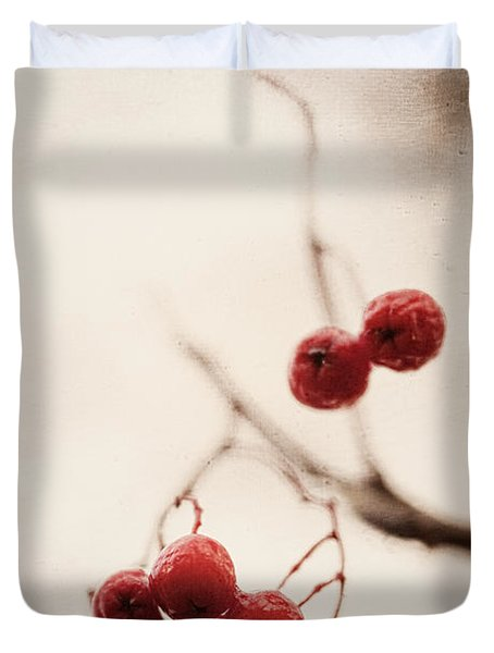 Rote Beeren - Red Berries Duvet Cover